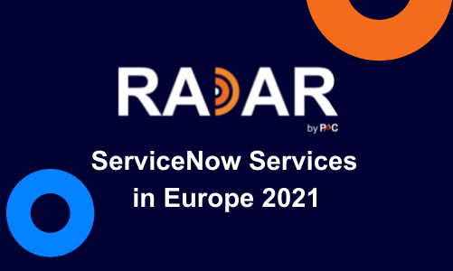 PAC INNOVATION RADAR ServiceNow Services in Europe 2021: A hyper-competitive market anticipating strong growth
