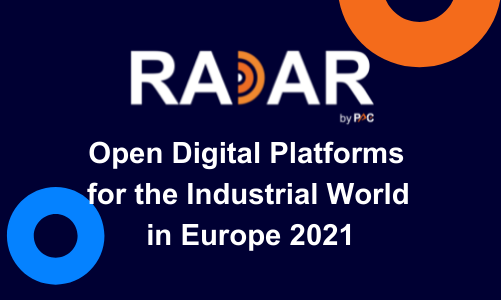 """PAC INNOVATION RADAR """"Open Digital Platforms for the Industrial World in Europe 2021"""