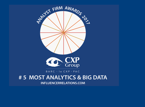 Analyst Firm Awards 2017 - Analytics and Big Data