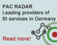 PAC RADAR Leading providers of BI services in Germany