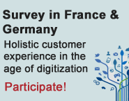 Survey in France and Germany - Holistic customer experience in the age of digitization