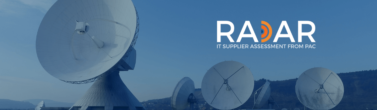 PAC RADAR - IT supplier assessment