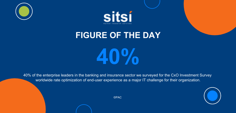 Figure of the day: IT challenges - CxO survey - banking and insurance