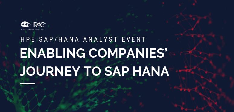 HPE - Enabling companies' journey to SAP HANA