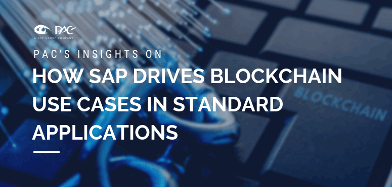 SAP drives blockchain use cases in standard applications