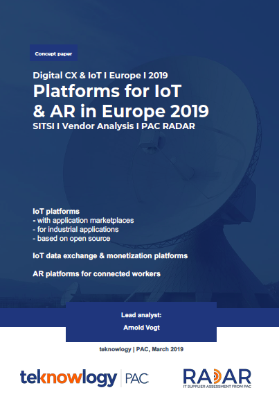 PAC RADAR Platforms for IoT & AR in Europe 2019